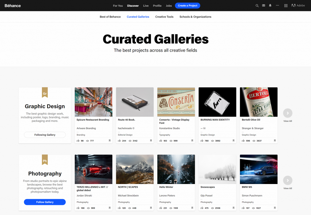 featured in behance