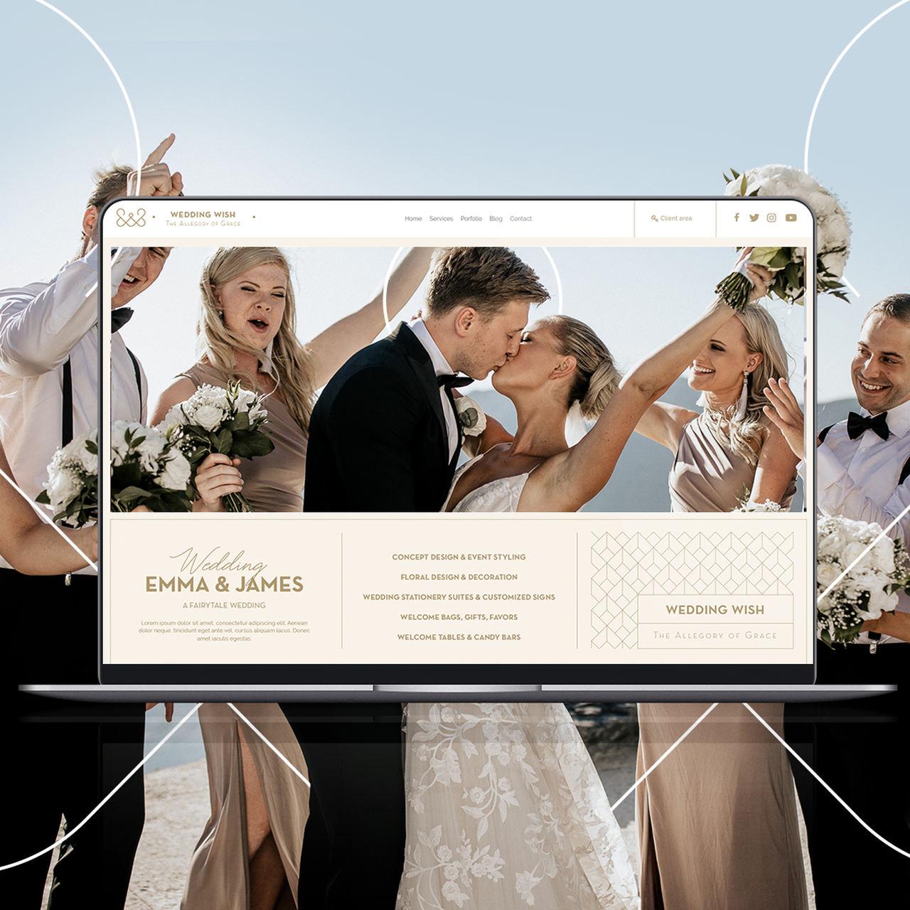 Web Design για την Εταιρεία Wedding Wish