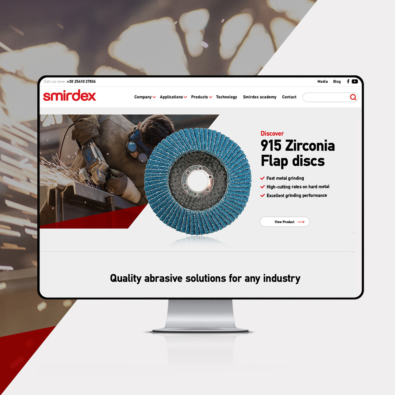 Web Design & Web Development για τη Βιομηχανία Λειαντικών Smirdex