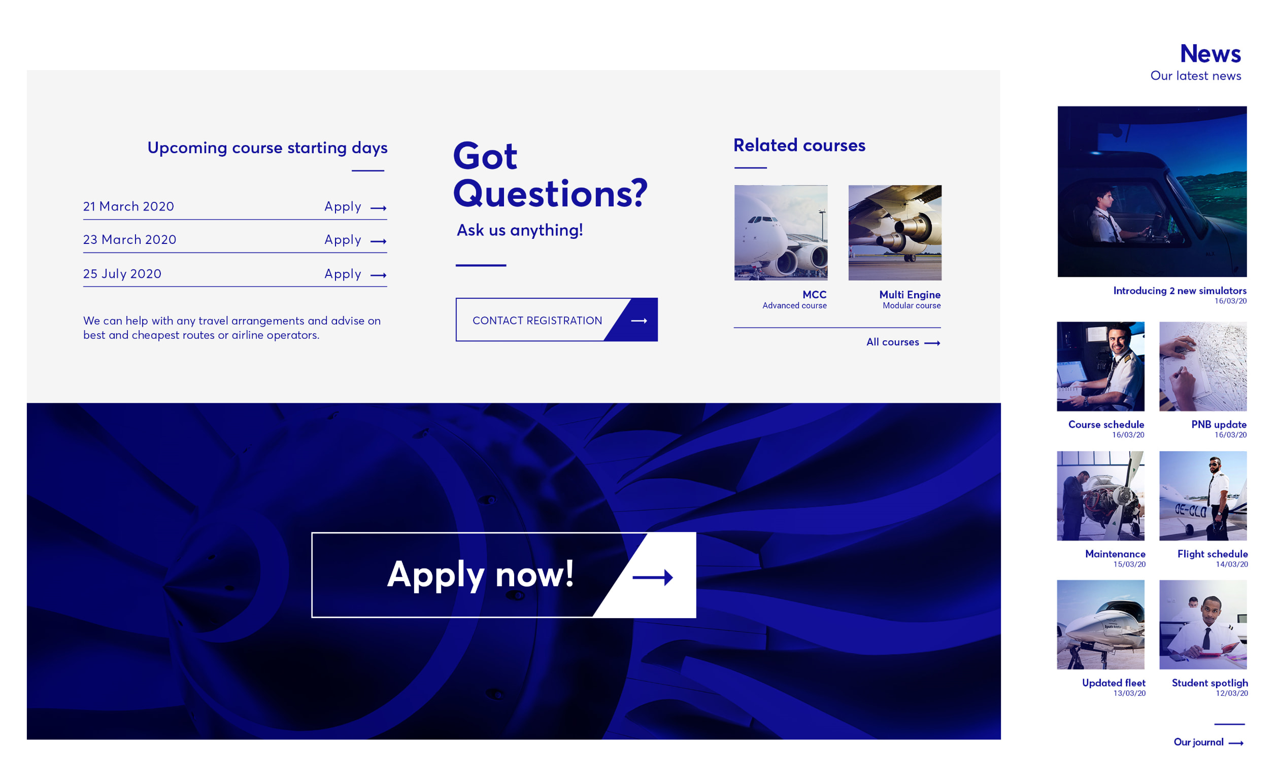 Egnatia Aviation - Δημιουργία website